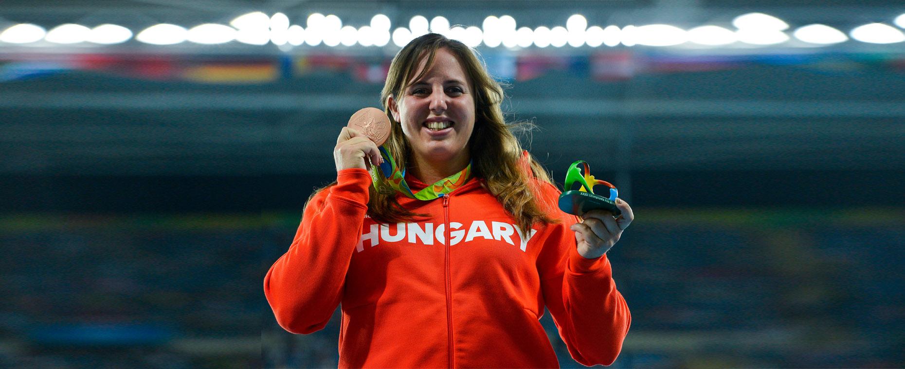 Riói bronzérmesünk Márton Anita súlylökés: 19,87 m